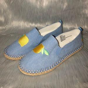 Lemon Slip On Shoes